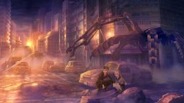 A scene from 13 Sentinels. Click here to access the game's website.
